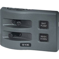 Blue Sea Systems Weather Deck Waterproof Switch Panel - Non-Fused