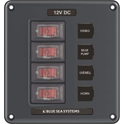 Blue Sea Water-Resistant DC Circuit Breaker Switch Panel (4320)
