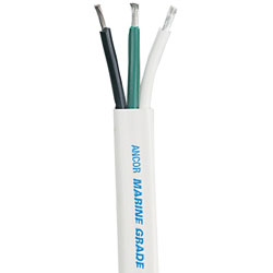 Ancor Marine Grade Flat Triplex Electrical Cable - 8/3