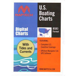 Maptech Navigation U.S. Boating Charts With Tides & Currents - USB Drive