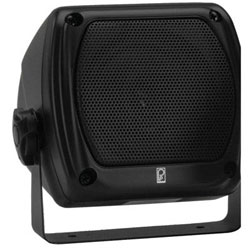 Poly-Planar MA840 Dual-Cone Subcompact Box Speakers - Black
