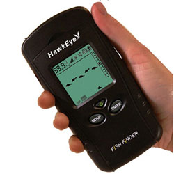 Norcross hawkeye f33p portable fish finder with weedid for Hawkeye portable fish finder