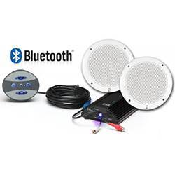 Poly-Planar BT-KIT4 Marine Bluetooth Amp / Controller / Speaker Kit