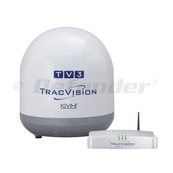 KVH TracVision TV3 with TV-Hub Web Interface