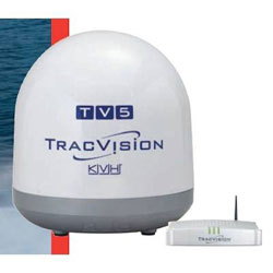 KVH TracVision TV5 with TV-Hub Web Interface