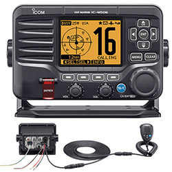 Icom IC-M506-31 Fixed-Mount VHF Radio with Hailer, NMEA 2000 / 0183  Rear Mic
