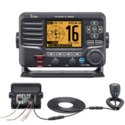 Icom M506 Fixed-Mount VHF Radio with AIS, NMEA 2000 - Rear Mic