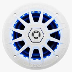 Boss 2-Way Coaxial Marine Loudspeaker with Multi-Color Illumination Options