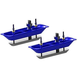 Lowrance Dual Stainless Steel Thru-Hull Transducers - Pair