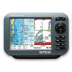 SI-TEX SVS-880CF-E Chartplotter / Fishfinder with External GPS