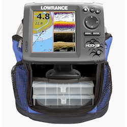 Lowrance Portable Hook-5 Ice Machine with Ice Transducer and Battery