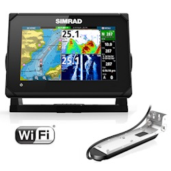 Simrad GO7 XSE Display with Insight Maps and TotalScan