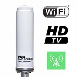 PDQ One Source Marine / RV Antenna Package - Cell / WiFi / HDTV