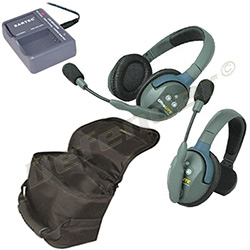 Eartec UltraLITE 2-Person Single & Double Ear Cup Headset System