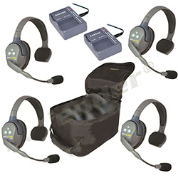 Eartec UltraLITE 4-Person Single Ear Cup Headset System