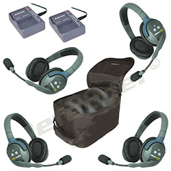 Eartec UltraLITE 4-Person Double Ear Cup Headset System