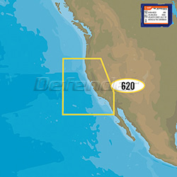 C-MAP MAX WIDE Bathymetric Fishing Charts San Diego to Cape Blanco - SD