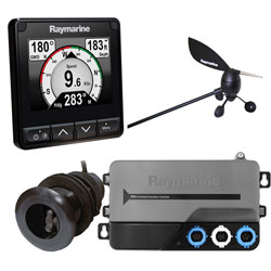 Raymarine i70s Instrument Display with Wind and Depth Transducer