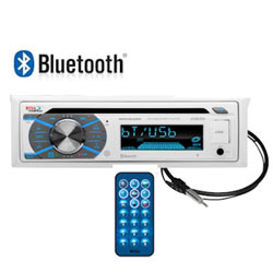 Boss Audio Systems AM / FM Bluetooth Marine Stereo Receiver with CD - White