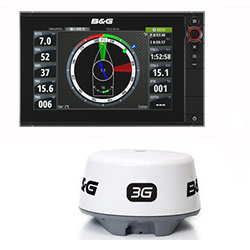 B&G Zeus² 9 Touchscreen Multifunction Display with 3G Radar - REMAN
