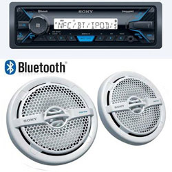 Sony Multimedia AM / FM Marine Bluetooth Receiver with Speakers