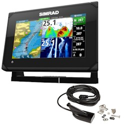 Simrad GO7 XSR Multi-Function Display HDI Skimmer Transducer