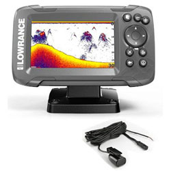 Lowrance Hook<sup>2</sup>-4x Fishfinder / GPS with Bullet Transducer