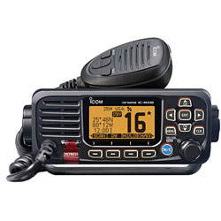 Icom M330G Fixed Mount VHF Radio with External GPS Antenna