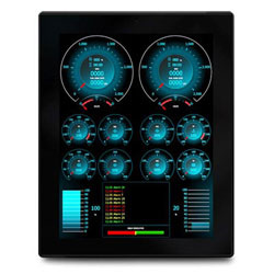 Oceanic Systems Mulitple Engine Display