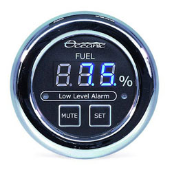Oceanic Systems Panel-Mounted Fuel Gauge