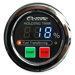 Oceanic Systems Panel-Mounted Holing Tank Pumpout Gauge