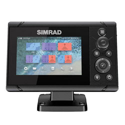 Simrad Cruise 5 w/ US Coastal Chart and Transducer