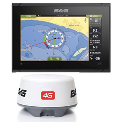 B&G Vulcan 9 Multifunction Display with Broadband 4G Radar and C-MAP MAX-N+
