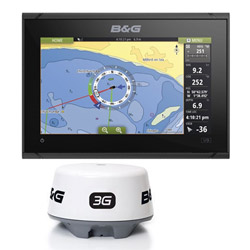 B&G Vulcan 9 Multifunction Display with Broadband 3G Radar and C-MAP MAX-N+
