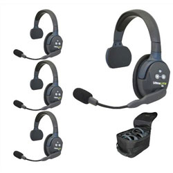 Eartec UltraLITE HD 4-Person Single Ear Cup Headset System