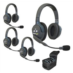 Eartec UltraLITE HD 4-Person Double Ear Cup Headset System