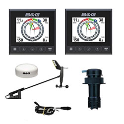 B&G Triton2 Digital Display Package w/ 2 Displays and Wireless Wind Sensor