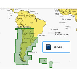 Navionics+ Electronic Navigation Charts - Chile, Argentina, Easter Island