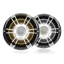 Fusion Coaxial Sports Chrome Marine Speaker with LED