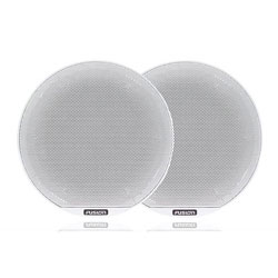 Fusion Coaxial Classic White Marine Speaker with LED