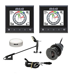 B&G Triton2 S/D/W Wired Wind Package - Includes (2) Displays