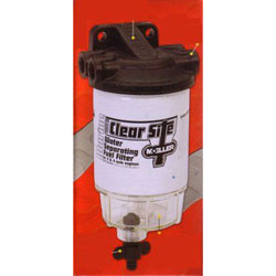 Moeller Clear Site Water Separating Fuel Filter Assembly - Clear Bowl