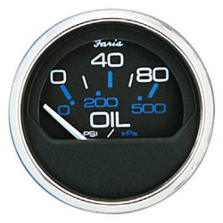 Faria Chesapeake Black SS Oil Pressure Gauge