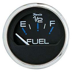 Faria Chesapeake Black SS Fuel Level Gauge