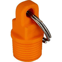 Sea-Dog Nylon Emergency Garboard Drain Plug with Attached Key Ring
