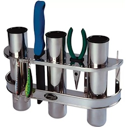 BoatMates Stainless Steel Triple Fishing Rod Storage Rack