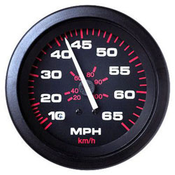 SeaStar Solutions Amega Series 65 MPH Speedometer Kit