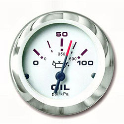 SeaStar Solutions Lido Series Oil Pressure Gauge