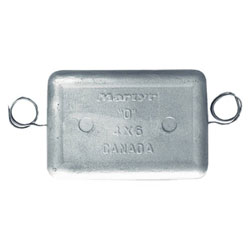 Martyr Small Plate Hull Sacrificial Anode - Type M