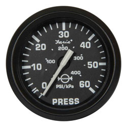 Faria Euro Black Water Pressure Gauge Kit